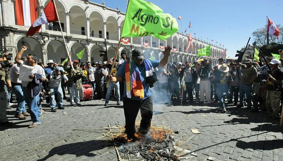 El otorgamiento de la licencia de construcción para el proyecto Tía María generó múltiples protestas en la región Arequipa. (Foto: GEC)