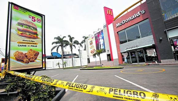 En diciembre de 2019, dos jóvenes trabajadores de McDonald's fallecieron en su local ubicado en el cruce de las avenidas La Marina y Universitaria. (Foto: César Grados | GEC)