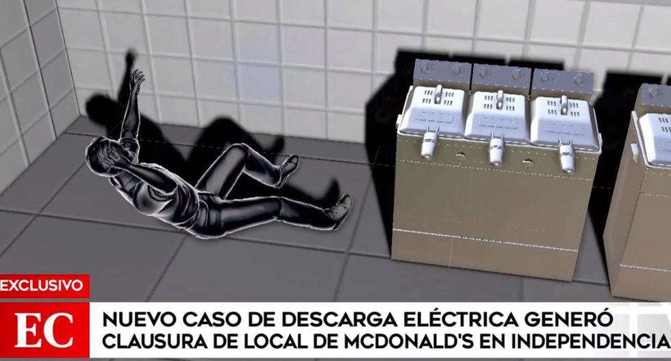 El trabajador de McDonald's fue llevado a una clínica para ser atendido tras sufrir descarga eléctrica en local de Independencia. (América Noticias)