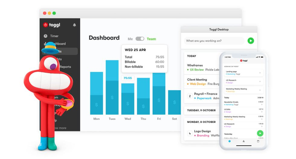 FOTO 7 | 7. TogglEsta plataforma te ayudará a manejar mejor tu tiempo para trabajar de manera más productiva.