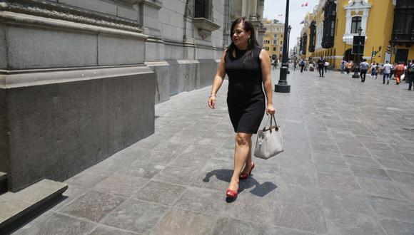 Mirian Morales fue secretaria del despacho presidencial de Martín Vizcarra. (Foto: GEC).