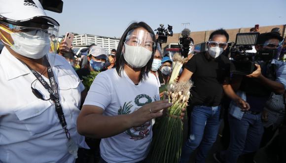"""Keiko Fujimori dijo que el candidato presidencial de Perú Libre, Pedro Castillo """"parece ser un representante de Evo Morales"""".  (Foto: GEC)"""