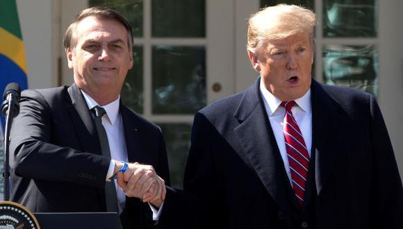 Jair Bolsonaro y Donald Trump en la Casa Blanca. (Foto: EFE)
