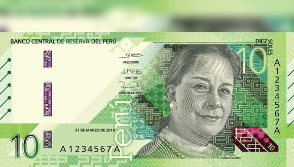 Chabuca Granda, símbolo de la música peruana, se luce en el nuevo billete de 10 soles. (Foto: BCR)