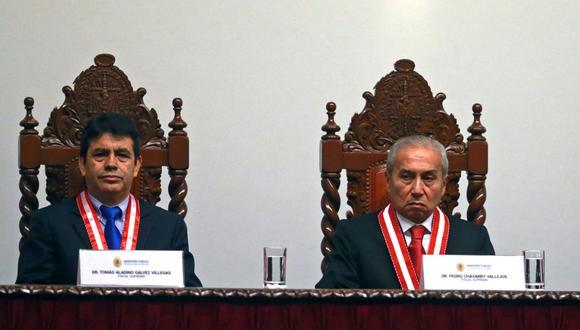 Pedro Chávarry y Tomás Gálvez han sido suspendidos como fiscales supremos. (Foto: Andina)