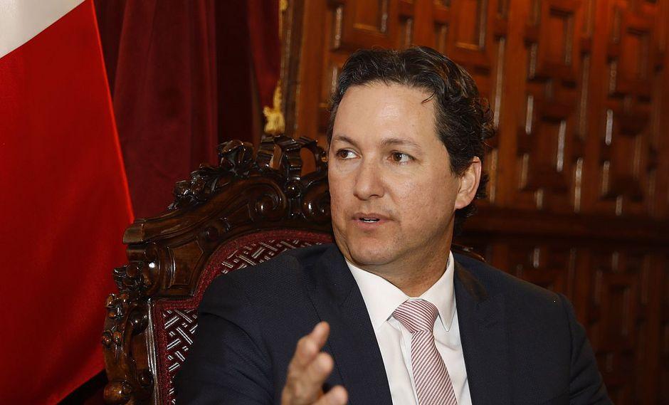 """El presidente del Congreso, Daniel Salaverry, evitó opinar si es que la cuestión de confianza planteada por Martín Vizcarra es """"golpista"""". (Foto: USI)"""