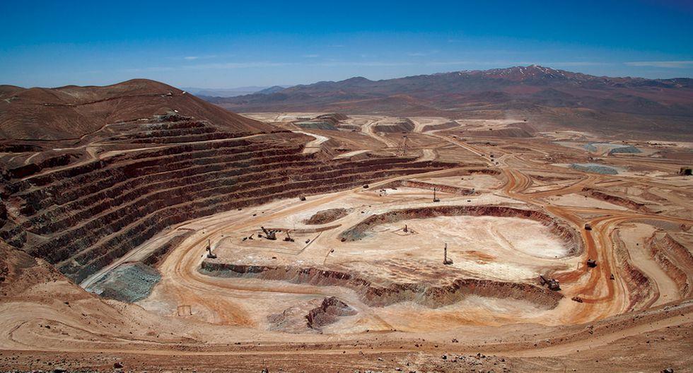Mina Escondida. Según la Comisión Chilena del Cobre (Cochilco), podría haber una reducción en la producción de cobre de hasta 200,000 toneladas.