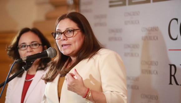 La ministra de la Mujer y Poblaciones Vulnerables, Ana María Mendieta, aseguró que el Ejecutivo está trabajando para fortalecer la lucha contra la violencia y el acoso. (Foto: Lino Chipana / GEC)
