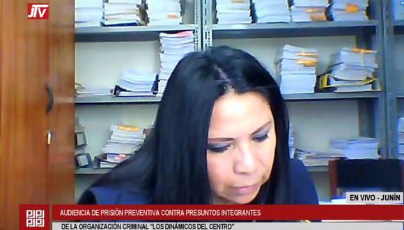 La sustentación del pedido de prisión preventiva está a cargo de la fiscal María Huamán. (Captura Justicia TV)