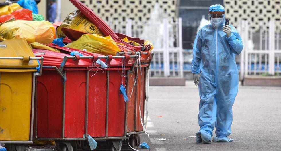 Basura médica de un hospital de Nueva Delhi, India. (Getty Images)