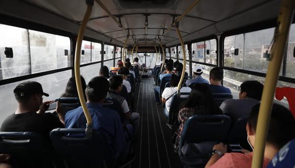 Recursos tienen como fin cubrir los ingresos que las empresas de transporte público no hayan percibido durante los meses de cuarentena. (Foto: GEC)