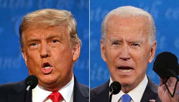 El presidente de Estados Unidos, Donald Trump, y su rival demócrata, Joe Biden, debatieron en Nashville. (Fotos: JIM WATSON and Brendan Smialowski / AFP).