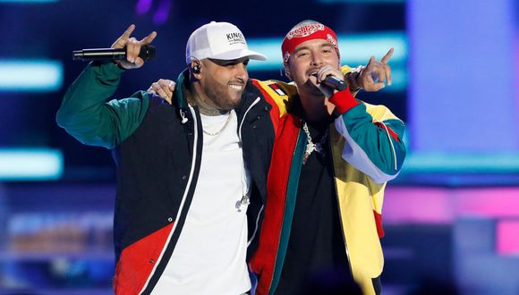 Nicky Jam y J Blavin. (Foto: AP).