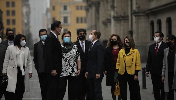 El presidente Martín Vizcarra cuenta con el apoyo de su gabinete, según Sasieta. (Foto: GEC)