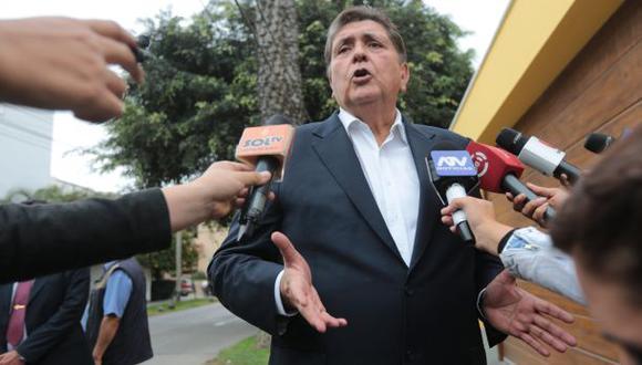 Alan García estaba siendo investigado por presuntos pagos ilícitos que habría recibido de Odebrecht. (Foto: GEC)