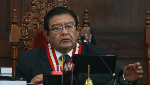 """""""No hubo ningún tipo de favorecimiento [a Martín Vizcarra]"""", indicó el titular del JNE. (Foto. GEC)"""