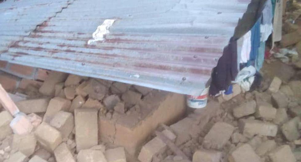 Derrumbe de casas en La Banda de Shilcayo - Tarapoto