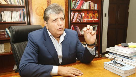 El ex presidente Alan García reiteró que su conferencia y el pago que recibió desde Brasil no fueron simulados. (Foto: GEC)