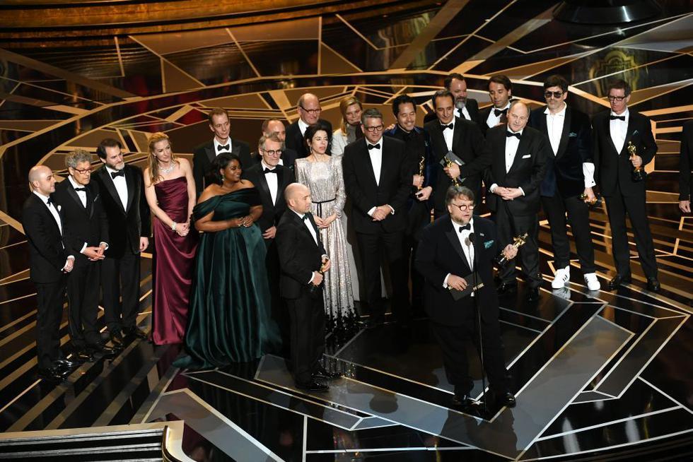 """El mexicano Guillermo del Toro se llevó el Óscar a Mejor Director por """"La Forma del Agua"""". (Foto: AFP)"""