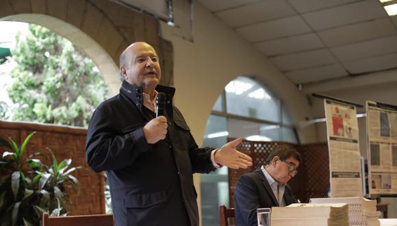 Hernando de Soto se mostró dispuesto a debatir con el presidente Pedro Castillo en el Vraem. (Foto: Anthony Niño de Guzmán / @photo.gec)