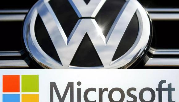 Volkswagen y Microsoft cooperan desde el 2018 para crear una plataforma desmaterializada para el intercambio de datos entre vehículos conectados. (Foto: AFP)