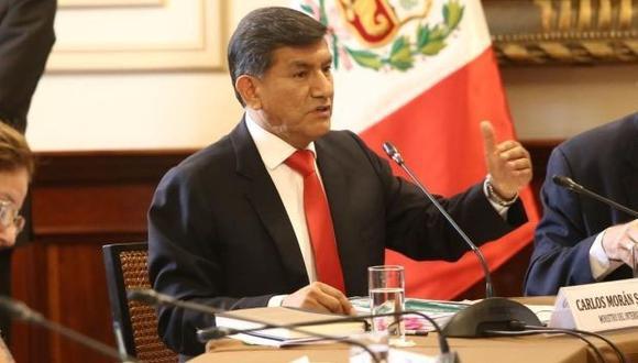 Carlos Morán se presentó ante la Comisión de Defensa del Congreso para explicar diligencia en la casa de Alan García. (Foto: GEC)
