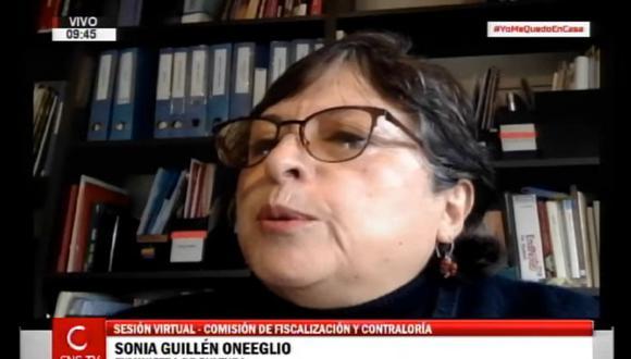 Sonia Guillén aseguró que el área de Abastecimientos del Ministerio de Cultura evaluó el CV de Richard Swing. (Foto: Congreso TV)