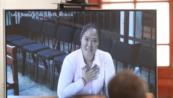 Keiko Fujimori negó tener conocimiento del dinero recibido por Jaime Yoshiyama. (Foto: Lino Chipana   GEC)