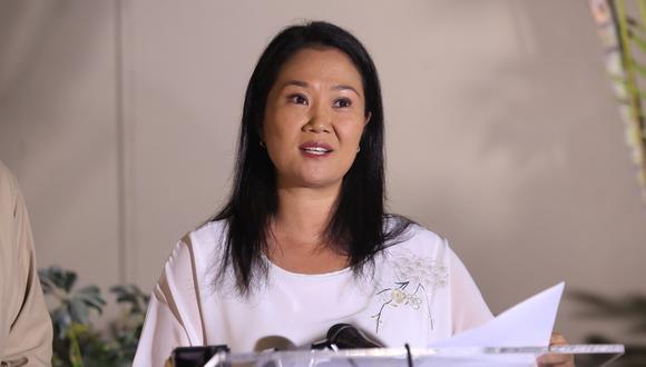 Keiko Fujimori afirmó que el fiscal José Domingo Pérez no cuenta con argumentos para su pedido de suspensión de actividades de Fuerza Popular. (Foto: GEC)