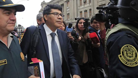El fiscal Germán Juárez Atoche sustentó los indicios de desbalance patrimonial de Nadine Heredia por aportes del 2006. (Foto: Andina)