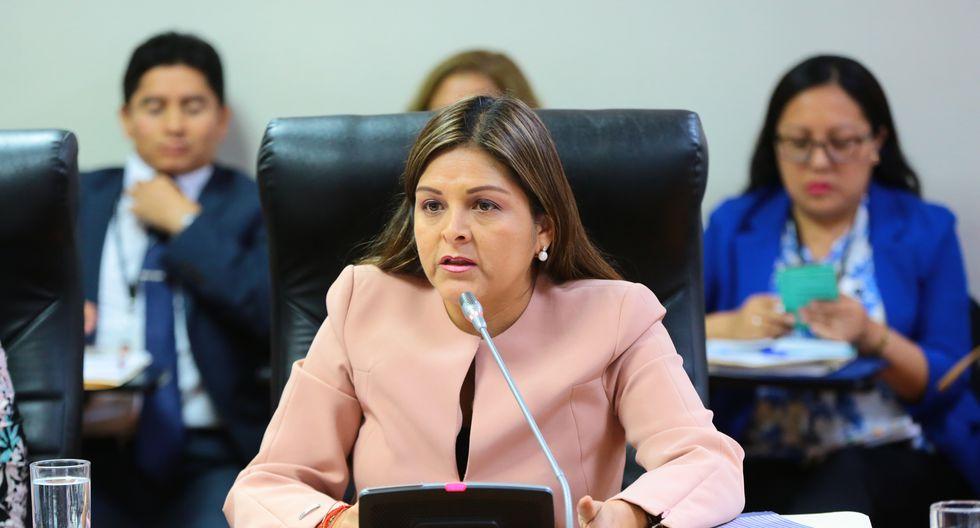 Karina Beteta descartó haber tenido reuniones con Solidaridad Nacional referidas al próximo proceso electoral. (Foto: Congreso)