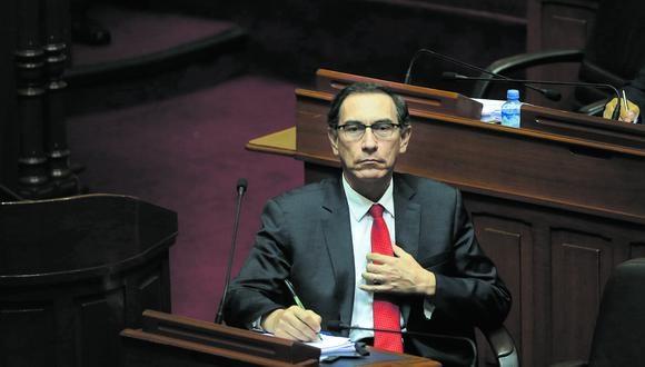 El presidente Martín Vizcarra se ha mostrado a favor de que lo investiguen ahora y no cuando termine su gobierno.  (Foto: GEC)