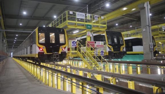 En la primera etapa de la Línea 2 del Metro de Lima se pondrán a disposición cinco trenes. Cada uno trasladará a 1,200 personas. (Foto: Contraloría)