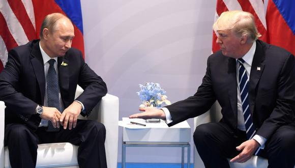 El mandatario de Rusia, Vladimir Putin, y su homólogo estadounidense, Donald Trump. (Foto: AFP)