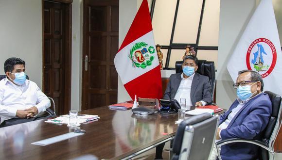 La Comisión Multisectorial COVID-19 de Ayacucho se reunió hoy de emergencia para analizar la evolución de la pandemia y la situación del sistema de salud. (Foto: DIRESA Ayacucho)