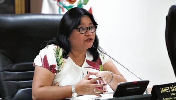 Janet Sánchez no explicó las razones que la llevaron a renunciar a Peruanos por el Kambio. (Foto: GEC)
