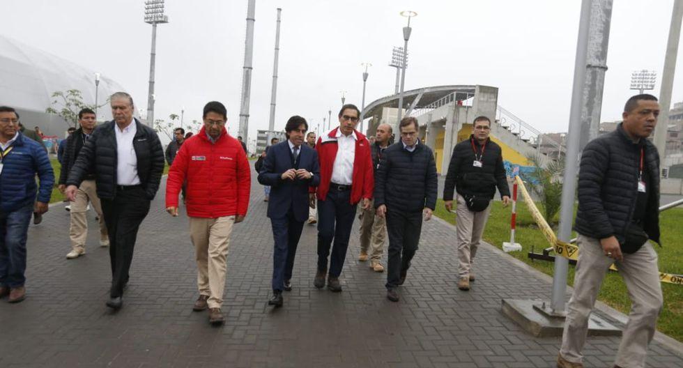El presidente realizó una visita a las instalaciones del Complejo Deportivo Andrés Avelino Cáceres. (Foto: Mario Zapata Nieto)