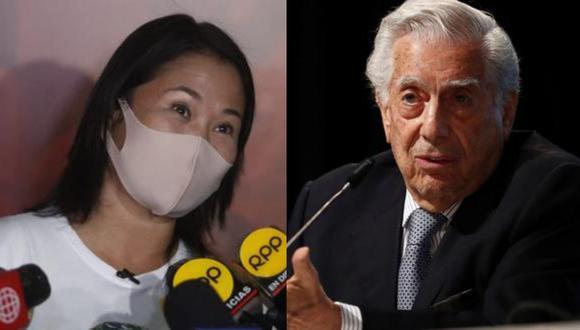 Keiko Fujimori y Mario Vargas Llosa (Foto: GEC)