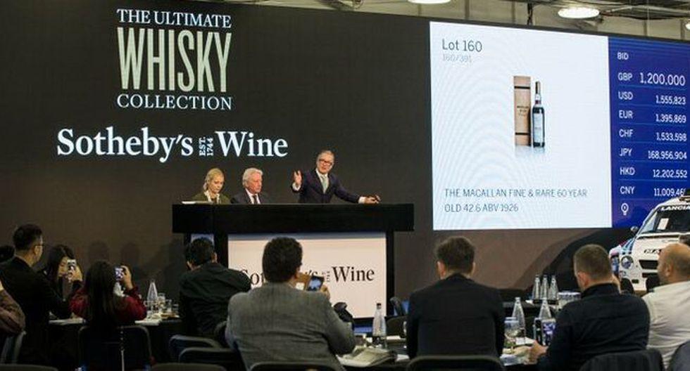 """""""Esta botella proporciona la última oportunidad de probar el 'Santo Grial' de todos los whiskies, una experiencia única en la vida"""", dijo Sotheby's."""