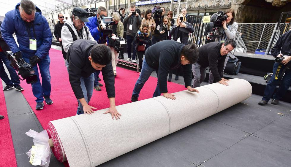 Se inició la cuenta regresiva para los Oscar 2019, que se realizará este domingo 24 de febrero, con la colocación de la alfombra roja por donde desfilarán todos los invitados a la ceremonia. (Foto: AFP)