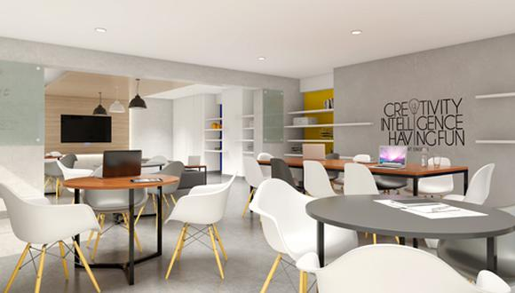 El proyecto cuenta con un working room y otros espacios que se acomodan a las necesidades de los jóvenes ejecutivos.