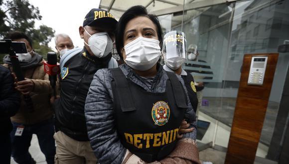 Mirian Morales cumple siete días de detención preliminar como parte de las investigaciones del caso Richard Cisneros. (Foto: GEC)