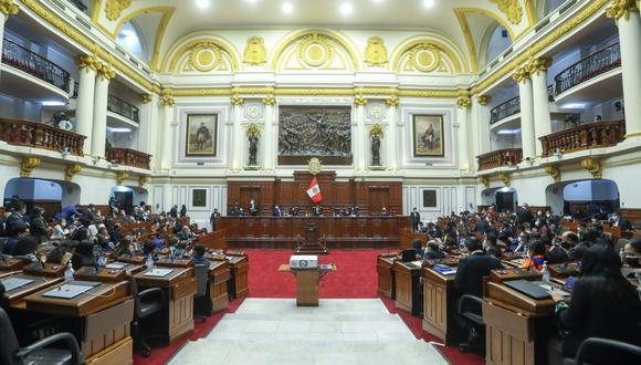 Pleno del Congreso realizó sesión presencial. (Foto: Congreso)