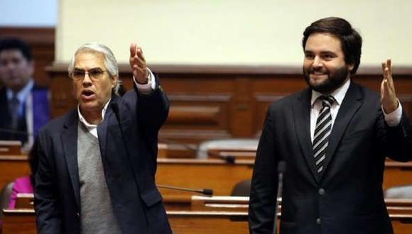 Gino Costa y Alberto de Belaunde buscar retornar al Congreso con el Partido Morado. (Foto: GEC)