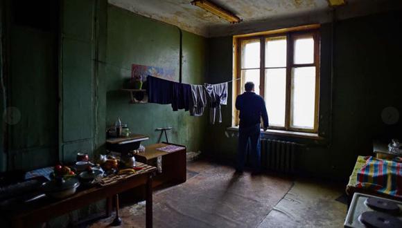 La 'kommunalka' de San Petersburgo de la que sus inquilinos sueñan con irse. (Foto AFP).