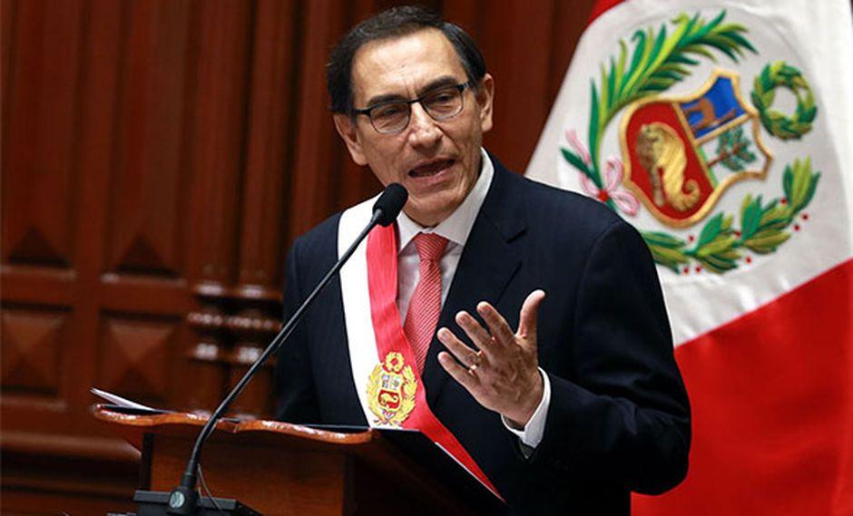Presidente Martín Vizcarra hizo el anuncio durante mensaje a la Nación. (Foto: Agencia Andina)