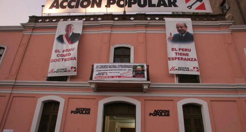 Acción Popular cuenta con 240,000 militantes en todo el país y es una de las 24 organizaciones con inscripción vigente en el JNE. (Foto: GEC)