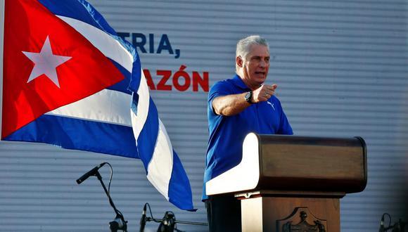 El presidente de Cuba, Miguel Diaz-Canel. (Foto: EFE)