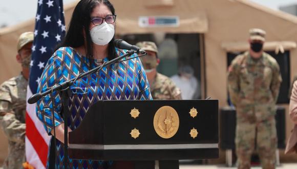 Nuria Esparch dijo que están identificadas las personas que entregaron la carta a la mesa de partes de las Fuerzas Armadas. (Foto: Andina)