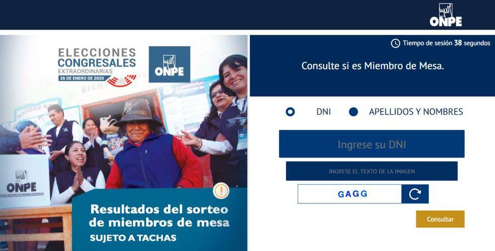 Ingrese a la página web de la ONPE para saber si fue elegido miembro de mesa (Foto: ONPE)
